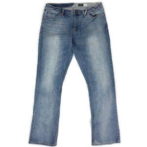 Volcom Men's Vorta Slim Straight Light Wash Jeans